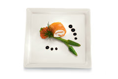 Sushi roll with caviar Royalty Free Stock Images