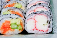 Sushi roll into a circle are arranged Stock Photo