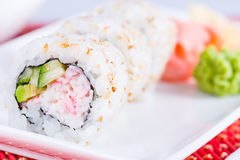 Sushi roll closeup Stock Images