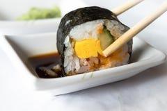 Sushi roll. Closeup of a shushi roll Stock Photo