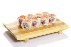 Sushi roll with crab isolated Royalty Free Stock Image