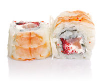 Sushi roll with crab isolated Stock Photo