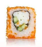 Sushi roll with crab and orange tobico Stock Image