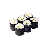 Sushi roll with cucumber Royalty Free Stock Image