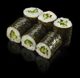 Sushi Roll with Cucumber Stock Images