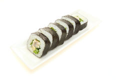 Sushi roll on a dish Royalty Free Stock Photo