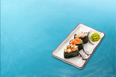 Sushi roll diverse set Royalty Free Stock Photography