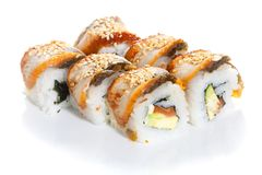 Sushi roll with eel Royalty Free Stock Photography