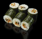 Sushi Roll with Eel and Cucumber Stock Image