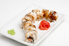 The sushi roll with eel Stock Photography