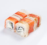 Sushi roll with fish Royalty Free Stock Photos
