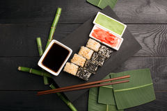 Sushi roll with fish Royalty Free Stock Photography