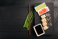 Sushi roll with fish Royalty Free Stock Images