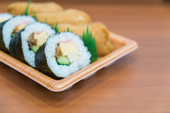 sushi roll with fried tofu Stock Photos