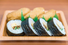 sushi roll with fried tofu Royalty Free Stock Images