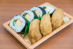 sushi roll with fried tofu Stock Images