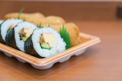 sushi roll with fried tofu Royalty Free Stock Photo