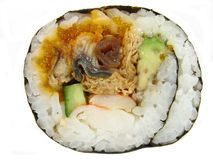 Sushi roll (futo-maki) Royalty Free Stock Images
