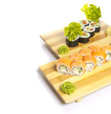Sushi roll isolated on white background Royalty Free Stock Images