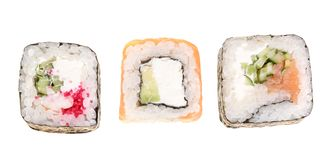 Sushi roll isolated on white background without a shadow royalty free stock photo