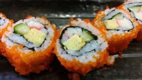 Sushi roll japanese food menu Stock Photography