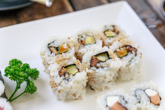 Sushi roll - japanese food Stock Photos