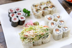 Sushi roll - japanese food Stock Photo