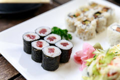 Sushi roll - japanese food Stock Images