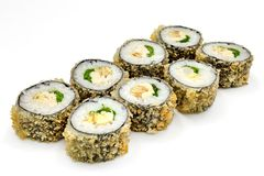 Sushi , roll, Japanese seafood sushi , roll on a white background Stock Photography