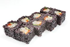 Sushi , roll, Japanese seafood sushi , roll on a white background Royalty Free Stock Images