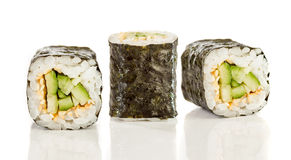 Sushi Roll (Kappa maki roll) on a white background Stock Image
