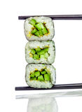 Sushi Roll (Kappa maki roll) on a white background Stock Images