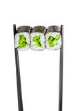 Sushi Roll (Kappa maki roll) on a white background Royalty Free Stock Image