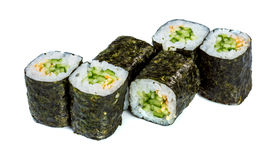 Sushi Roll (Kappa maki roll) on a white background Royalty Free Stock Images