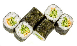 Sushi Roll (Kappa maki roll) on a white background Stock Photography