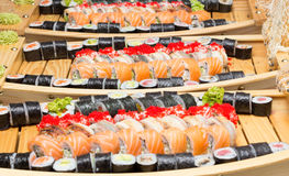 Sushi roll made dish Stock Image