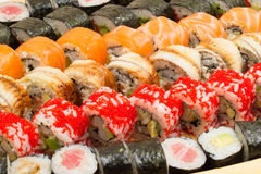 Sushi roll made dish Stock Photo