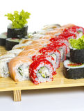 Sushi roll made dish isolated Stock Photography