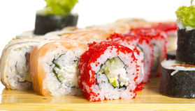 Sushi roll made dish isolated Royalty Free Stock Photo