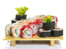 Sushi roll made dish isolated Royalty Free Stock Image