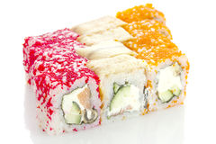 Sushi roll made dish isolated Royalty Free Stock Photography