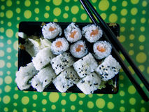 Sushi roll. Mix of sushi roll Royalty Free Stock Images