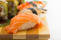 Sushi roll and nigiri Royalty Free Stock Images