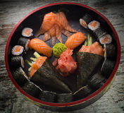 Sushi roll with nigiri and temaki. Stock Photography