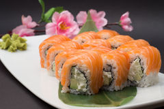 Sushi roll philadelphia Royalty Free Stock Photography