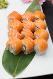 Sushi roll philadelphia Royalty Free Stock Image