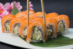 Sushi roll philadelphia Royalty Free Stock Images