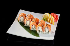 Sushi Roll Philadelphia Royalty Free Stock Photography