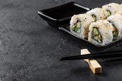 Sushi Roll on a plate Royalty Free Stock Photography