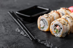 Sushi Roll on a plate Royalty Free Stock Photos
